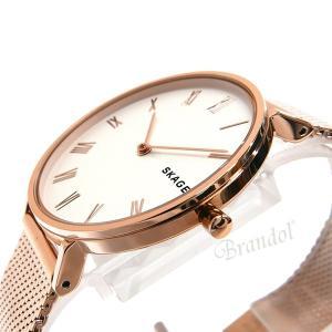 スカーゲン SKAGEN レディース腕時計 HALD ハルド メッシュベルト 34mm ホワイト×ローズゴールド SKW2714 [在庫品]|brandol|04