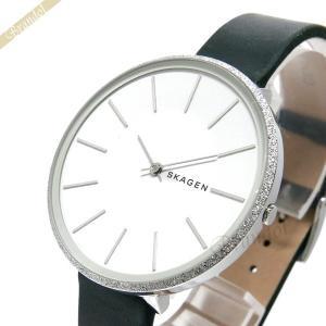 スカーゲン SKAGEN レディース腕時計 KAROLINA カロリーナ 38mm ホワイト×ダークグリーン SKW2724 【2018年秋冬新作】 [在庫品]|brandol