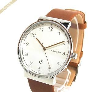 スカーゲン SKAGEN メンズ腕時計 Ancher アンカー 40mm シルバー×ブラウン SKW6292 [在庫品] brandol