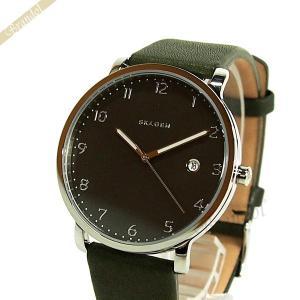 スカーゲン SKAGEN メンズ腕時計 Hagen ハーゲン 40mm ブラウン×オリーブ SKW6306 [在庫品] brandol