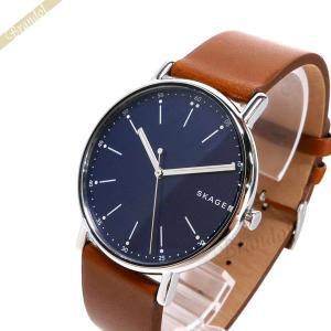 スカーゲン SKAGEN メンズ腕時計 Signatur シグネチャー 40mm ブルー×ブラウン SKW6355 [在庫品]|brandol