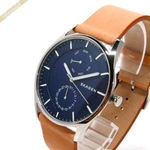 スカーゲン SKAGEN メンズ腕時計 Holst ホルスト 40mm ネイビー×ライトブラウン SKW6369 [在庫品]|brandol