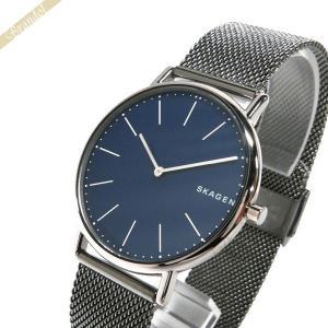 スカーゲン SKAGEN メンズ腕時計 SIGNATUR シグネチャー チタニウム 40mm ネイビー×ガンメタル SKW6420 [在庫品]|brandol