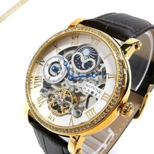 ゾンネ ハオリ SONNE×HAORI メンズ 腕時計 岩城滉一 コラボ デュアルタイム 44mm 自動巻き ホワイト×ゴールド×ブラウン H013YGZ SV [在庫品]|brandol