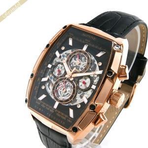 ゾンネ ハオリ SONNE×HAORI メンズ 腕時計 岩城滉一 コラボ トノー型 自動巻き ブラック×ローズゴールド H018PG BK [在庫品]|brandol