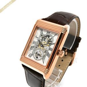 ゾンネ ハオリ SONNE×HAORI メンズ腕時計 岩城滉一 コラボモデル レクタングル 手巻き ホワイト×ローズゴールド H021PG-BR [在庫品]|brandol