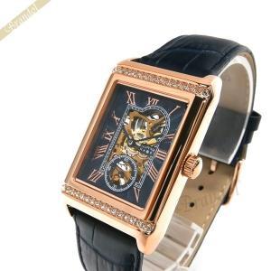 ゾンネ ハオリ SONNE×HAORI メンズ腕時計 岩城滉一 コラボモデル レクタングル 手巻き ネイビー×ローズゴールド H021PGZ-NV [在庫品]|brandol