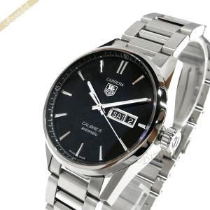 タグホイヤー TAG Heuer メンズ腕時計 カレラ デイデイト キャリバー5 41mm 自動巻き ブラック×シルバー WAR201A.BA0723 [在庫品]|brandol