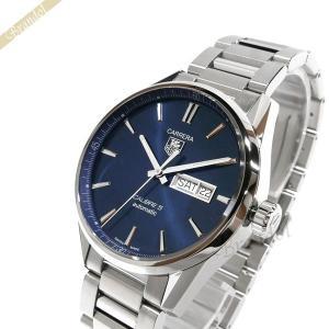 タグホイヤー TAG Heuer メンズ腕時計 カレラ デイデイト キャリバー5 41mm 自動巻き ネイビー×シルバー WAR201E.BA0723 [在庫品]|brandol