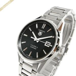 タグホイヤー TAG Heuer メンズ腕時計 カレラ キャリバー5 39mm 自動巻き ブラック×シルバー WAR211A.BA0782 [在庫品]|brandol