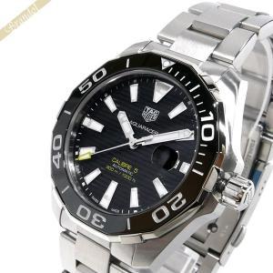 タグホイヤー TAG Heuer メンズ 腕時計 アクサレーサー キャリバー5 43mm 自動巻き ブラック×シルバー WAY201A.BA0927 [在庫品]|brandol
