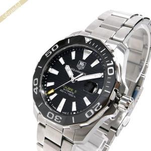 タグホイヤー TAG Heuer メンズ 腕時計 アクサレーサー キャリバー5 41mm 自動巻き ブラック×シルバー WAY211A.BA0928 [在庫品]|brandol