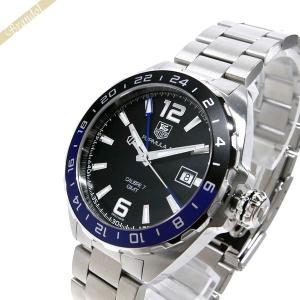 タグホイヤー TAG Heuer メンズ 腕時計 フォーミュラ1 キャリバー7 GMT 41mm 自動巻き ブラック×シルバー WAZ211A.BA0875 [在庫品]|brandol