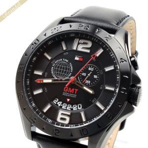 トミーヒルフィガー TOMMY HILFIGER メンズ腕時計 BARON 48mm GMT ブラック 1790972 [在庫品]|brandol