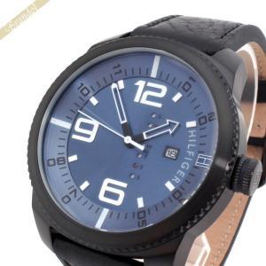 トミーヒルフィガー TOMMY HILFIGER メンズ腕時計 50mm ブルー×ブラック 1791016 [在庫品]|brandol