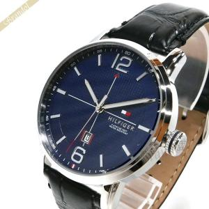 トミーヒルフィガー TOMMY HILFIGER メンズ 腕時計 45mm ネイビー×ブラック 1791216 [在庫品]|brandol