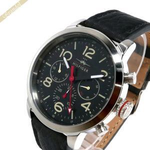 トミーヒルフィガー TOMMY HILFIGER メンズ腕時計 マルチカレンダー 46mm ブラック 1791232 [在庫品]|brandol