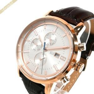 トミーヒルフィガー TOMMY HILFIGER メンズ腕時計 マルチカレンダー 44mm シルバー×ブラウン 1791246 [在庫品]|brandol