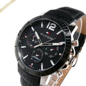 トミーヒルフィガー TOMMY HILFIGER メンズ腕時計 マルチカレンダー 46mm ブラック 1791268 [在庫品]|brandol