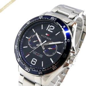 トミーヒルフィガー TOMMY HILFIGER メンズ腕時計 マルチカレンダー 48mm ネイビー×シルバー 1791366 [在庫品]|brandol