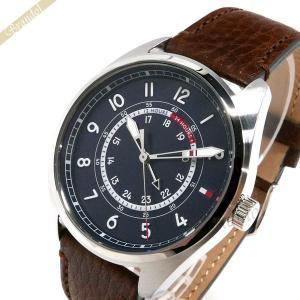 トミーヒルフィガー TOMMY HILFIGER メンズ腕時計 44mm ブラック×ブラウン 1791371 [在庫品]|brandol