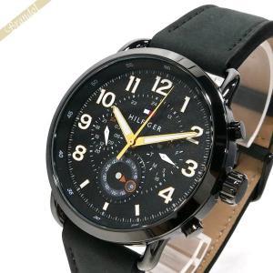 トミーヒルフィガー TOMMY HILFIGER メンズ 腕時計 マルチカレンダー 46mm ブラック 1791426 [在庫品]|brandol