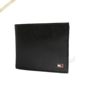 トミーヒルフィガー TOMMY HILFIGER メンズ 二つ折り財布 レザー カードケース ブラック 96 4511 BLACK [在庫品]|brandol