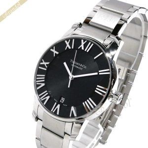 ティファニー Tiffany メンズ腕時計 アトラス ドーム オートマチック 37mm ブラック×シルバー Z1800.68.10A10A00A [在庫品]|brandol