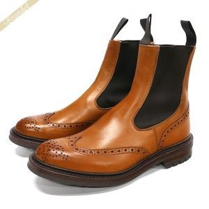 トリッカーズ Tricker's メンズ サイドゴアブーツ ヘンリー HENRY ウィングチップ 本革 バーニッシュドカーフ / ライトブラウン 2754-1 [在庫品] brandol