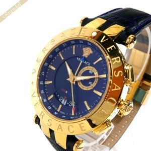 ヴェルサーチ VERSACE メンズ腕時計 Vレース GMT アラーム 46mm ネイビー 29G70D282S282 [在庫品] brandol