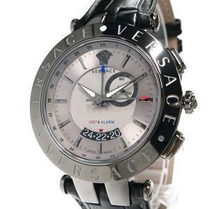 ヴェルサーチ VERSACE メンズ腕時計 Vレース GMT アラーム 46mm シルバー×ブラック 29G98D535S009 [在庫品] brandol 03