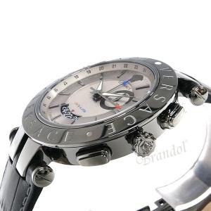 ヴェルサーチ VERSACE メンズ腕時計 Vレース GMT アラーム 46mm シルバー×ブラック 29G98D535S009 [在庫品] brandol 04