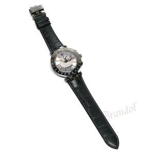 ヴェルサーチ VERSACE メンズ腕時計 Vレース GMT アラーム 46mm シルバー×ブラック 29G98D535S009 [在庫品] brandol 06