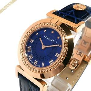 ヴェルサーチ VERSACE レディース 腕時計 ヴァニティ 35mm ネイビー×ゴールド P5Q80D282S282 [在庫品]|brandol