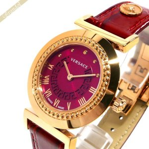 ヴェルサーチ VERSACE レディース 腕時計 ヴァニティ 35mm パープル系×レッド P5Q80D800S800 [在庫品]|brandol
