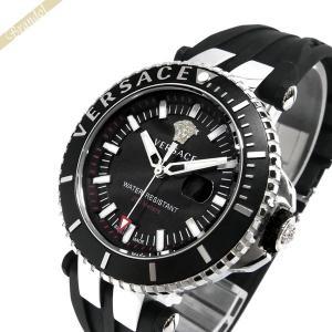 ヴェルサーチ VERSACE メンズ腕時計 Vレース ダイバー 46mm ブラック×シルバー VAK01 0016 [在庫品]|brandol