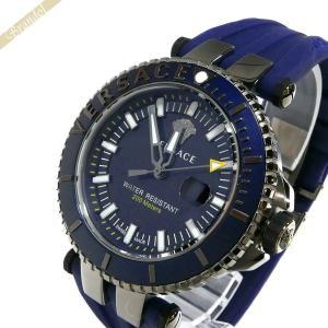 ヴェルサーチ VERSACE メンズ腕時計 Vレース ダイバー 46mm ネイビー VAK020016 [在庫品]|brandol