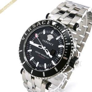 ヴェルサーチ VERSACE メンズ腕時計 Vレース ダイバー 46mm ブラック×シルバー VAK030016 [在庫品]|brandol