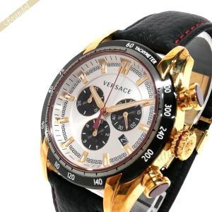 ヴェルサーチ VERSACE メンズ腕時計 V-RAY クロノグラフ 44mm シルバー×ブラック VDB040014 [在庫品]|brandol