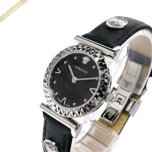 ヴェルサーチ VERSACE レディース腕時計 ミニ ヴァニティ 27mm ブラック×シルバー VEAA00118 [在庫品]|brandol