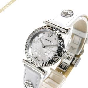 ヴェルサーチ VERSACE レディース腕時計 ミニ ヴァニティ 27mm シルバー×ホワイト VEAA00218|brandol