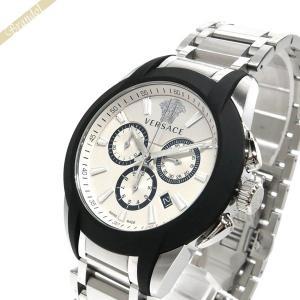 ヴェルサーチ VERSACE メンズ腕時計 キャラクタークロノ 42mm ホワイト×シルバー VEM800118 [在庫品]|brandol
