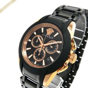 ヴェルサーチ VERSACE メンズ腕時計 キャラクタークロノ 42mm ブラック×ローズゴールド VEM800418 [在庫品]|brandol