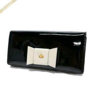 ヴィヴィアンウエストウッド Vivienne Westwood 財布 レディース 長財布 リボン パスケース付 ブラック 1032V FIOCCO NER [在庫品]|brandol