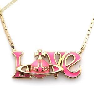 ヴィヴィアンウエストウッド Vivienne Westwood ネックレス レディース LOVE ロゴ ペンダント ピンク 195401|brandol