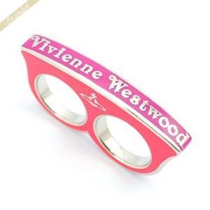 ヴィヴィアンウエストウッド Vivienne Westwood レディース リング ナックルリング ピンク 10号 BR83 FUSIA S|brandol