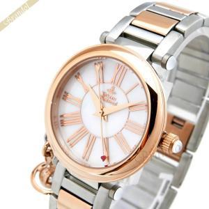 ヴィヴィアンウエストウッド Vivienne Westwood レディース腕時計 オーブチャーム付き オーブ 32mm ホワイトパール×ピンクゴールド VV006PRSSL [在庫品]|brandol