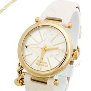 ヴィヴィアンウエストウッド Vivienne Westwood レディース腕時計 オーブチャーム付 32mm ホワイト×ゴールド VV006WHWH[在庫品]|brandol