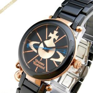 ヴィヴィアンウエストウッド Vivienne Westwood レディース腕時計 オーブチャーム付き ケンジントン 32mm ブラック VV067RSBK [在庫品]|brandol