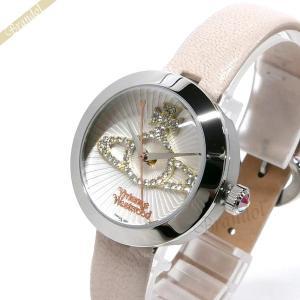 ヴィヴィアンウエストウッド Vivienne Westwood レディース腕時計 クイーンズゲート 30mm シルバー×ライトベージュ VV150WHCM|brandol